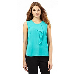 The Collection - Turquoise frill top