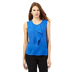 The Collection - Bright blue frill top