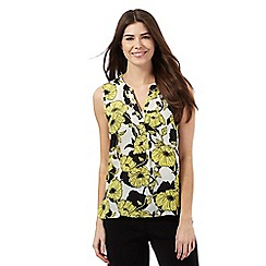 The Collection - Multi-coloured floral print notch neck blouse