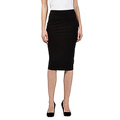 The Collection - Black jersey tube skirt