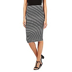 The Collection - Black striped jersey tube skirt