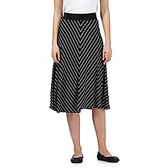 The Collection - Navy chevron skirt
