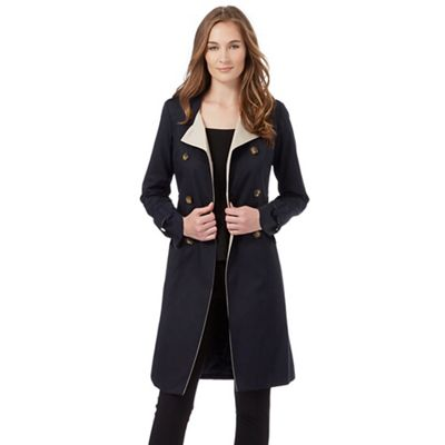 The Collection Petite Navy double breasted mac coat