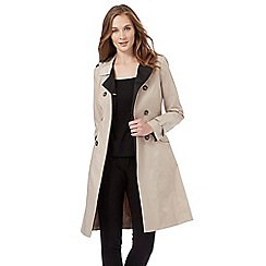 The Collection Petite - Beige double breasted mac coat
