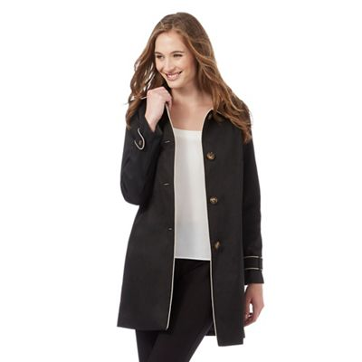 The Collection Black cocoon mac coat