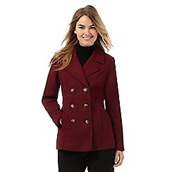 The Collection - Dark red double breasted coat