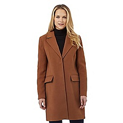 The Collection - Brown single breasted coat