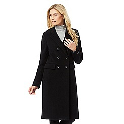The Collection - Black double-breasted coat