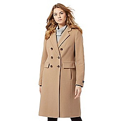 The Collection - Beige wool rich double-breasted coat
