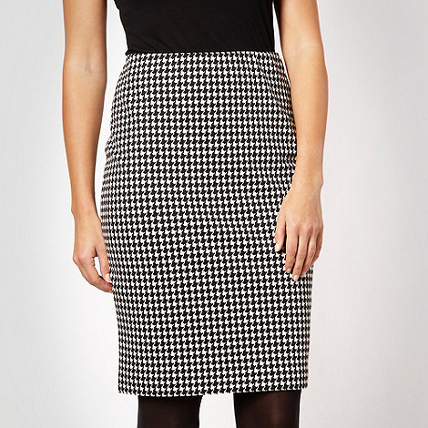 The Collection - Black dogtooth skirt