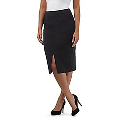 The Collection - Black pinstripe pencil skirt