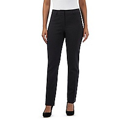 The Collection - Black pinstripe slim leg trousers