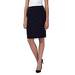 The Collection - Navy seamed suit skirt