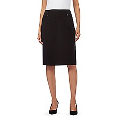 The Collection - Black pleated suit skirt