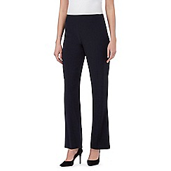 The Collection Petite - Navy straight fit trousers