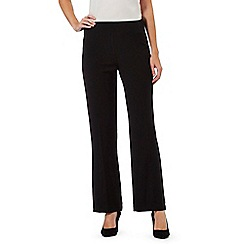The Collection Petite - Black straight legged trousers