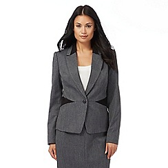 The Collection - Grey textured suit jacket