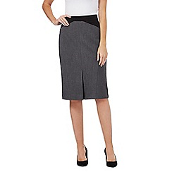 The Collection - Grey textured suit skirt
