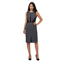 The Collection Petite - Grey textured suit dress