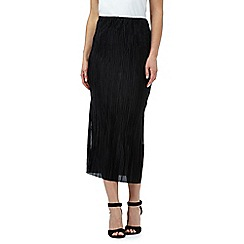 The Collection - Black plisse skirt