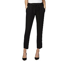 The Collection - Black slim leg satin trousers