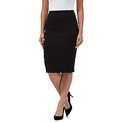 The Collection - Black ponte swirl textured skirt