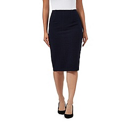 The Collection - Navy ponte checked skirt