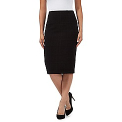 The Collection - Black ponte checked skirt