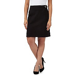 The Collection - Black ponte A-line skirt