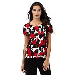 The Collection - Multi-coloured leaf print top