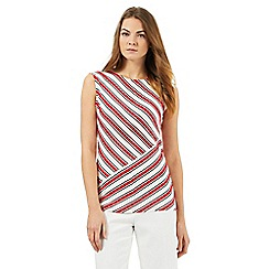 The Collection - Red sleeveless striped top
