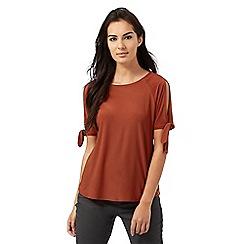 The Collection - Dark orange jersey top