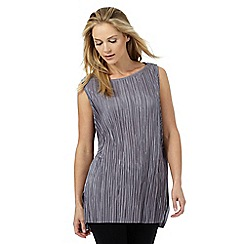 The Collection - Grey plisse tabard top