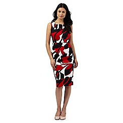 The Collection - Red large leaf print dress