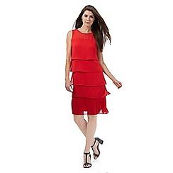 The Collection - Red plisse midi dress