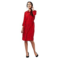 The Collection - Red patterned print shirt dress