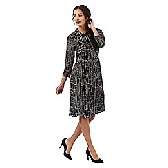 The Collection - Black patterned print shirt dress
