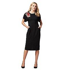 The Collection - Black floral applique dress
