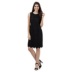 The Collection - Black geometric lace knee length dress