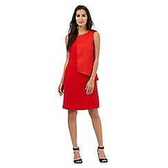 The Collection - Red asymmetric crepe dress