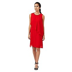 The Collection Petite - Red embellished neck layered dress