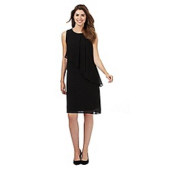 The Collection - Black embellished neck dress