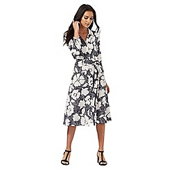 The Collection - Black and white floral shirt dress