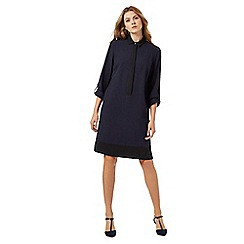 The Collection - Navy contrast trim shirt dress