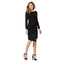 The Collection Petite - Black sparkle jersey dress
