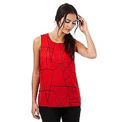 The Collection - Red line print sleeveless top