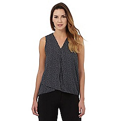 The Collection - Navy dotted print sleeveless top
