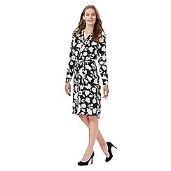 The Collection - Black and white floral print shirt dress
