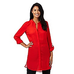 The Collection - Red long line shirt