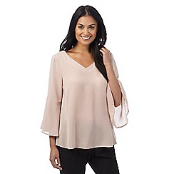 The Collection - Pale pink ruffle bell sleeve top